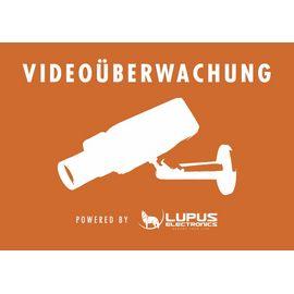 Lupus-Electronics Aufkleber: Achtung Videoüberwachung - 10862