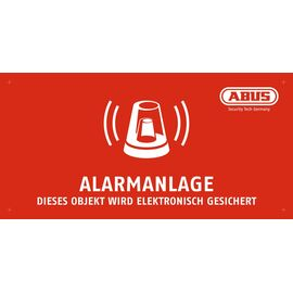 Abus Warnschild Alarmanlage, 200 x 100 mm - MOTH50000 - MOTH50000